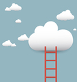 stairs leading to the clouds vector image