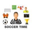 soccer flat icon concept vector image