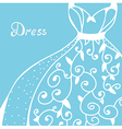 Wedding invitation with dress vector image vector image