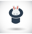 Rabbit in magician hat vector image vector image