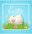 Easter card with eggs and cosmos flowers vector image vector image