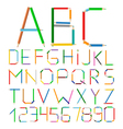 Colored Pencils Alphabet vector image