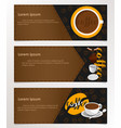 banner coffee vector image