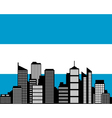 city and flag of argentina vector image