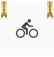 cycling road icon vector image