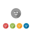 Flat long shadow bra and panties icons set vector image