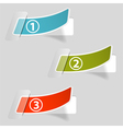 Options Sticker Labels vector image