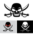 pirate skull flag symbol vector image