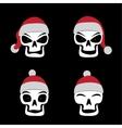 Santa skull emotion vector image