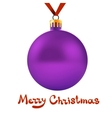 Toy ball hanging on red ribbon vector image