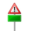 Exclamation road sign vector image vector image