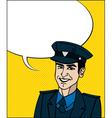 Pop Art cop vector image