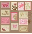 Retro Postage Stamps vector image