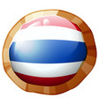 flag of thailand on round badge vector image
