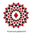 Diamond card suit snowflake vector image