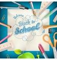 Back to school - School supplies EPS 10 vector image