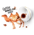 Poster wild coffee camel vector image vector image