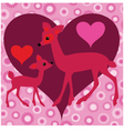 deer valentine vector image