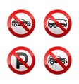 set prohibited signs - transport vector image vector image