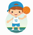 cartoon of basketball boy vector image
