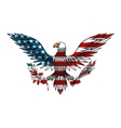 American eagle colored in USA flag colors vector image