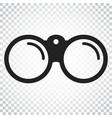 binocular icon binoculars explore flat simple vector image