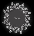 Decorative vintage frame Black and white vector image
