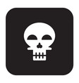 flat color skull icon vector image