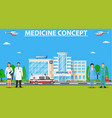 medical concept panoramic background with vector image