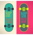 skateboard background with cool slogan in vector image