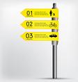 Modern sign infographics EPS 10 vector image
