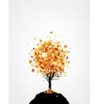 Lonely tree vector image