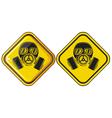 gas mask hazardous sign vector image vector image