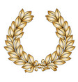 gold laurel vector image