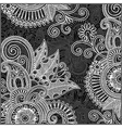 hand draw ornate black and white floral pattern vector image vector image