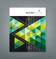 Cover report triangle geometry green for business vector image