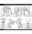 cartoon politics concepts set vector image vector image