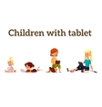 Children play in the smartphone or tablet vector image
