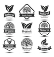 Nature label vector image
