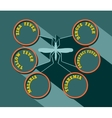 mosquito silhouette flat style vector image