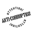 Anti-Corruption rubber stamp vector image