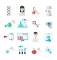 Biotechnology Flat Icons Set vector image