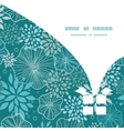 blue and gray plants Christmas gift box silhouette vector image