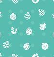 Christmas balls pattern vector image