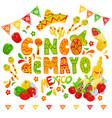 cinco de mayo celebration festive clipart vector image