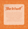 colorful time to travel banner vector image