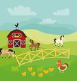 Farm fresh design vector image