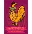 Happy Chinese new year 2017 zodiac of the Rooster vector image