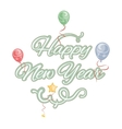 Happy new year isolated text vector image