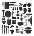 Kitchen tool set isolated vector image